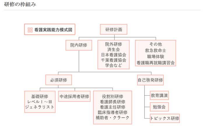 看護師の研修の枠組み図