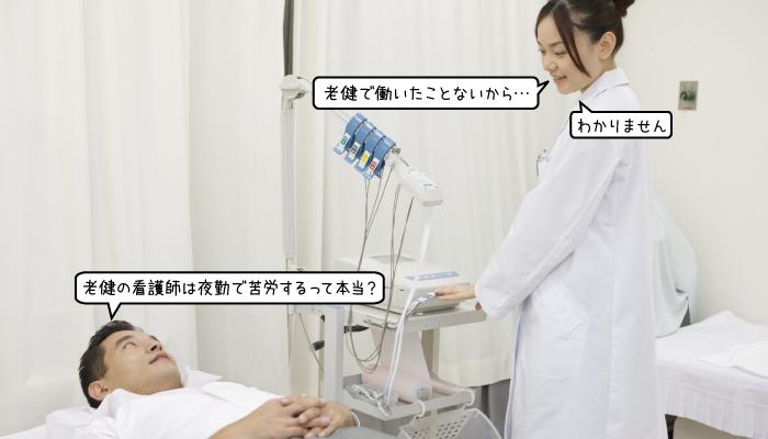 老健の看護師が夜勤をすると、大変なことが多いの?